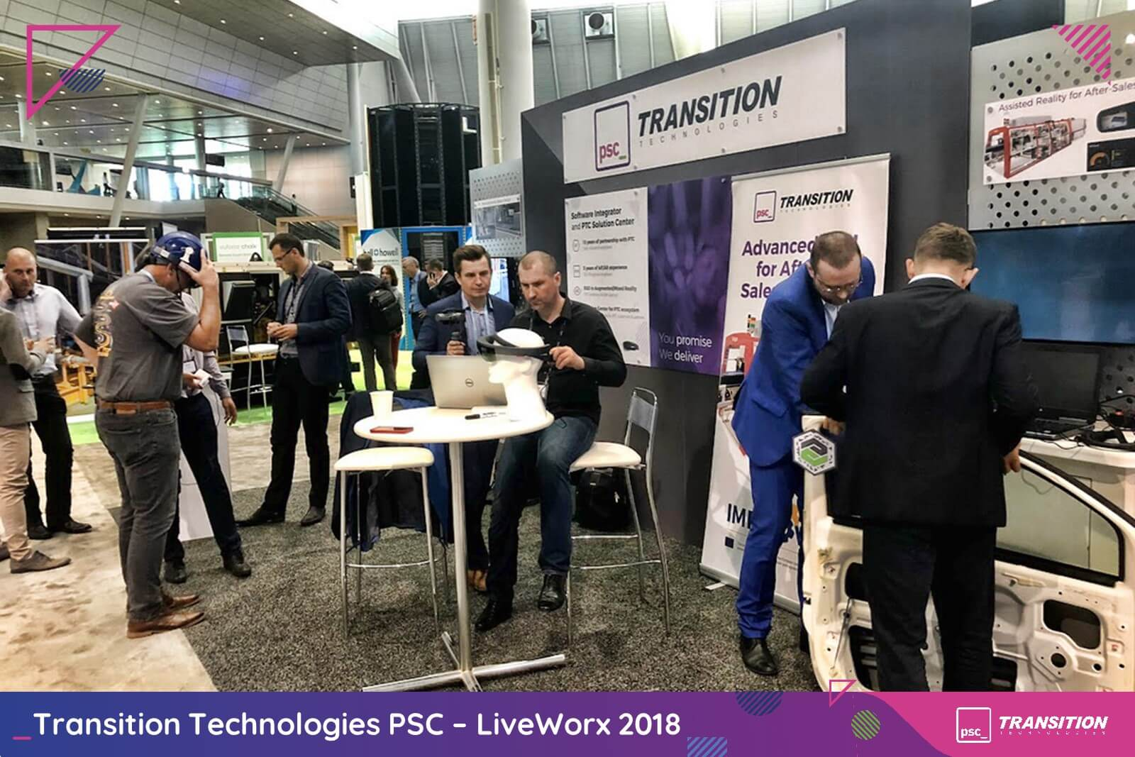 Stoisko Transition Technologies na LiveWorx 2018