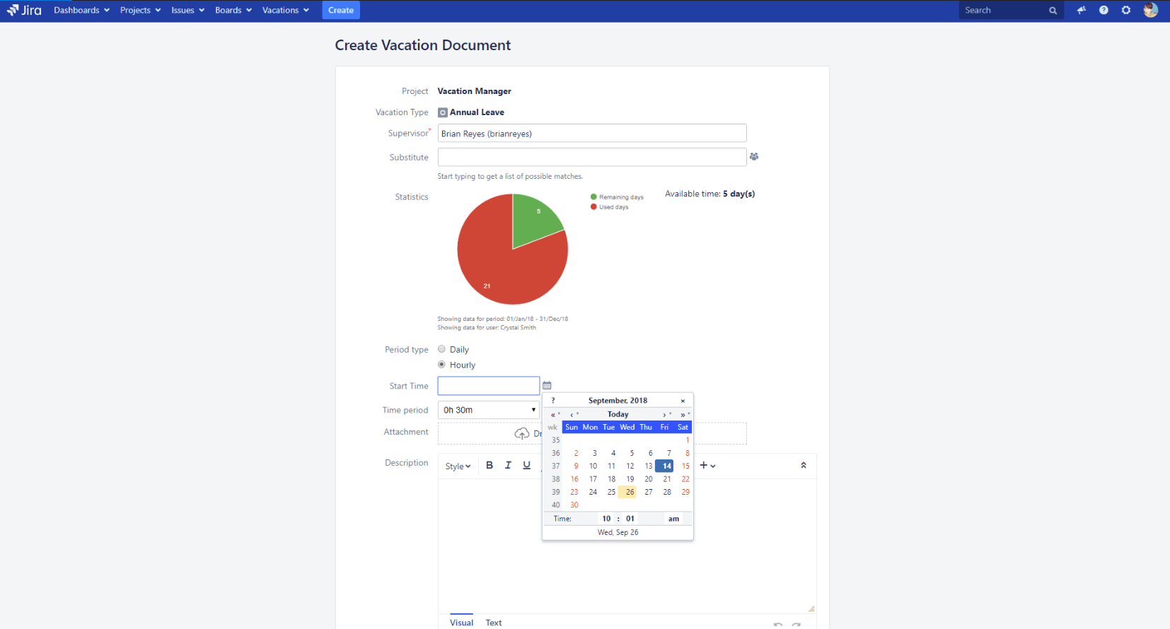 Vacation Manager for Jira