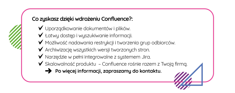 Zalety Confluence