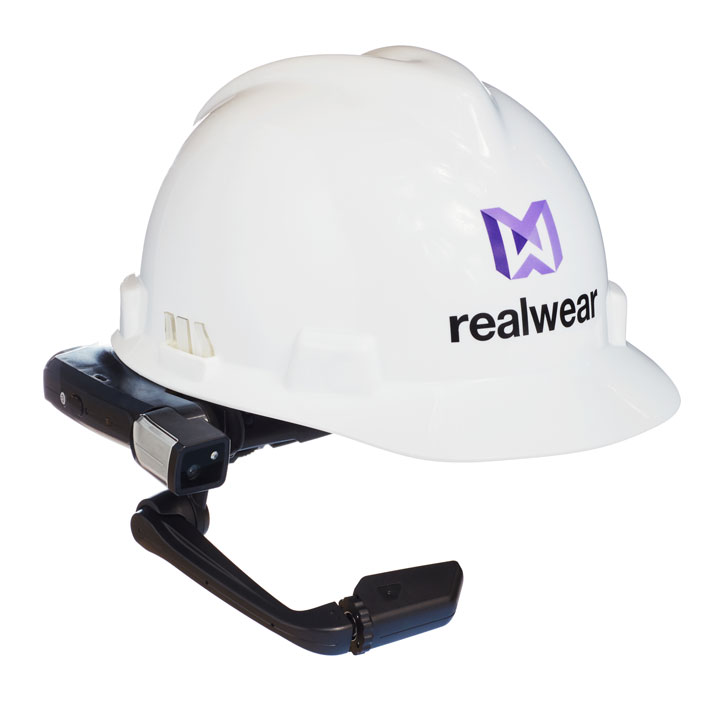 RealWear HMT-1 with helmet