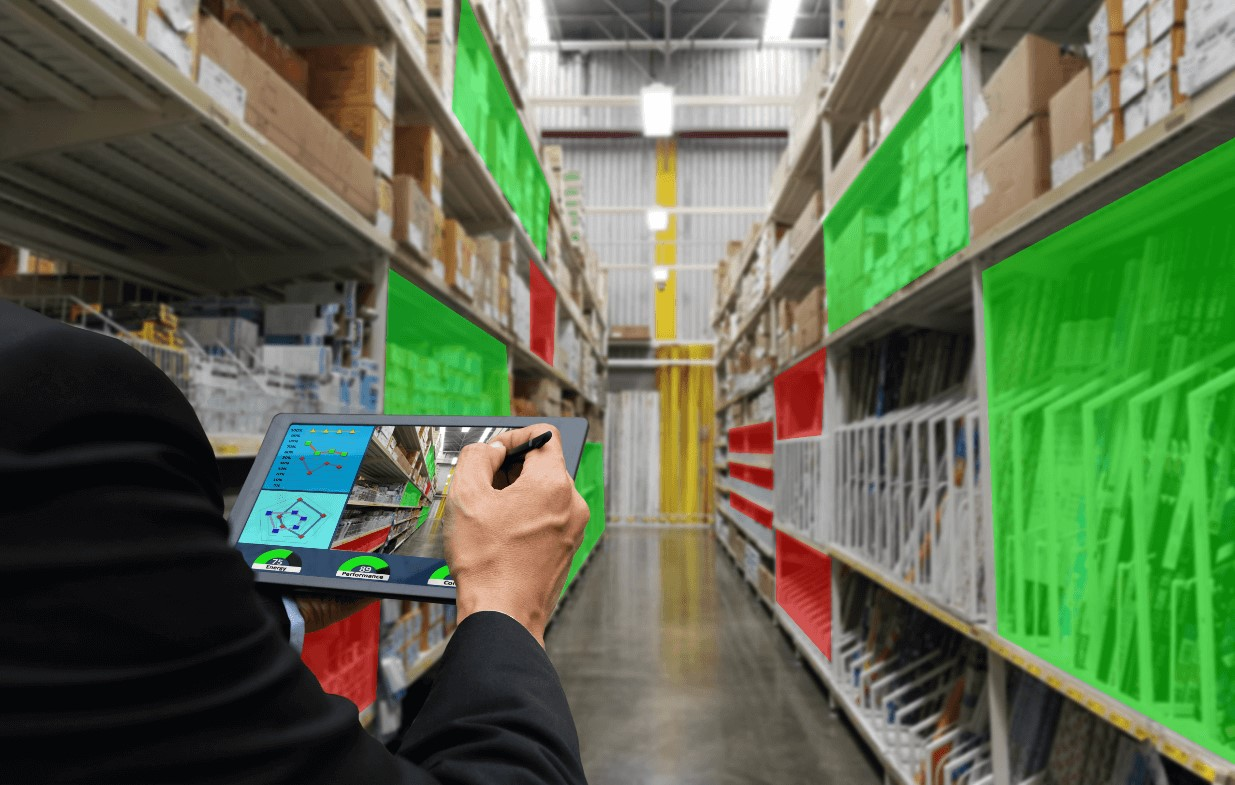 AR and smart storage of goods