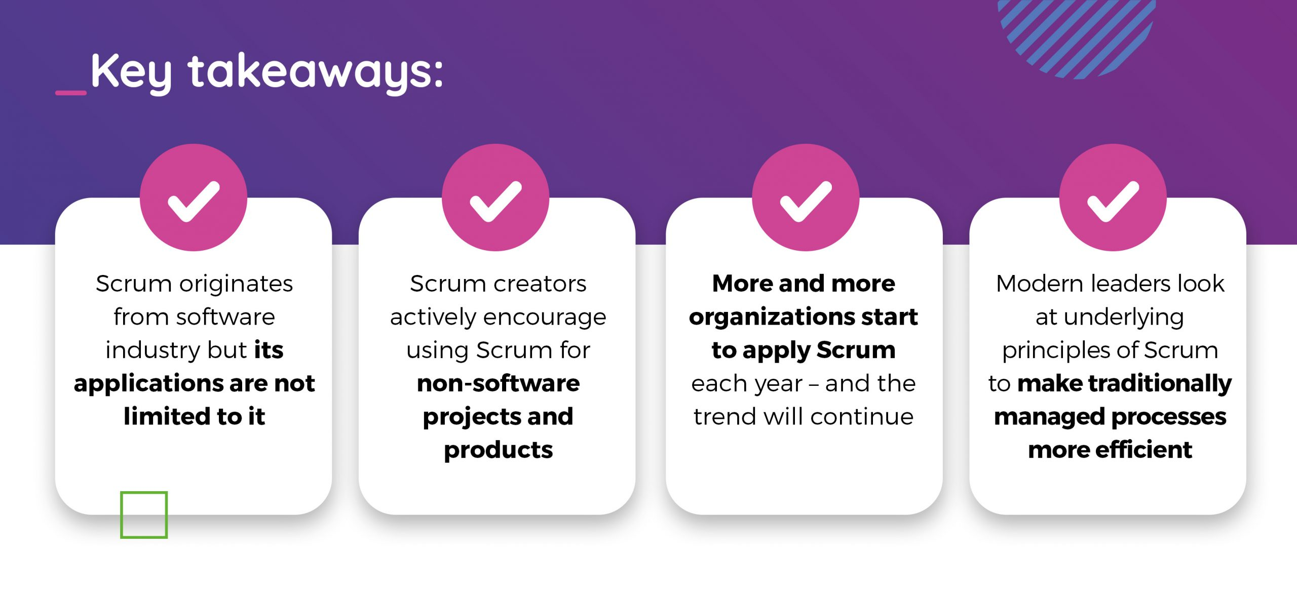 Agile and Scrum are just for software projects- key takeaways
