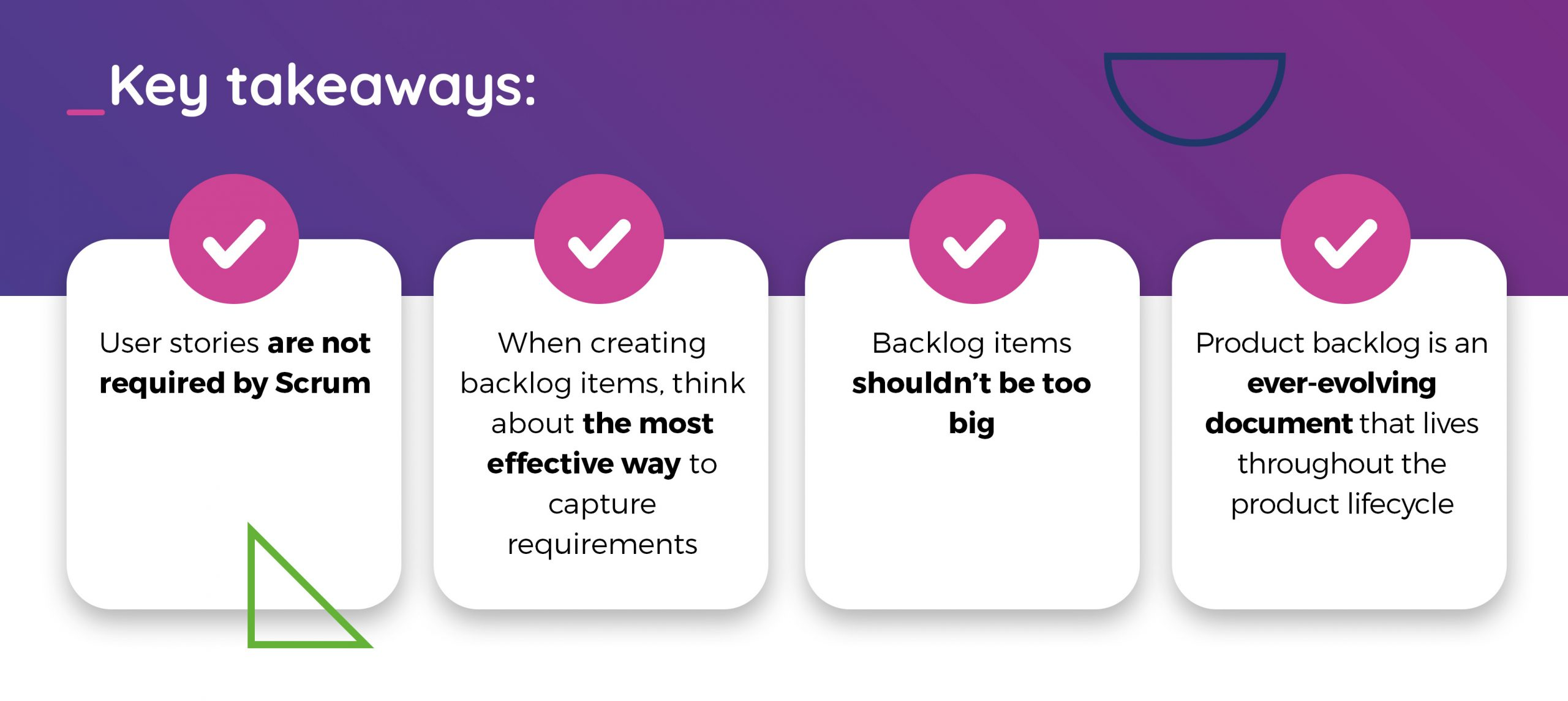 Product backlog consists of user stories- key takeaways TT PSC