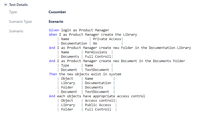 Test automation in a business context screen
