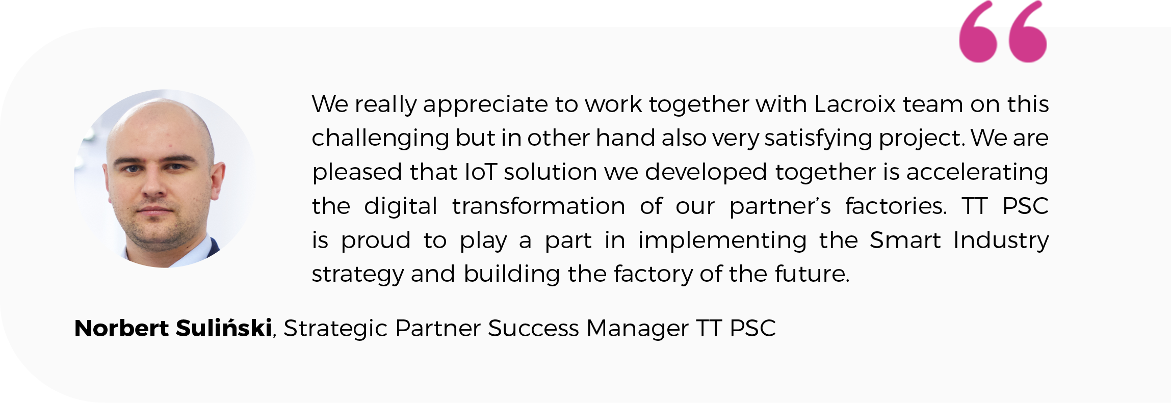 cooperation TT PSC and LACROIX