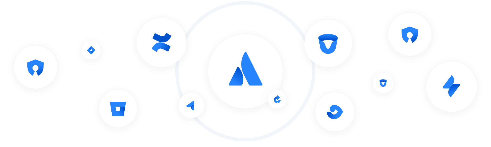 Atlassian products logos, produkty atlassian logo